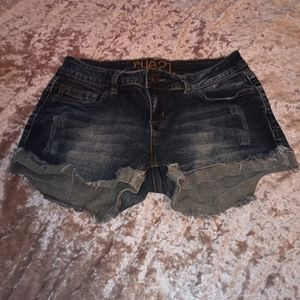 Size 7 Distressed Rue 21 Blue Jean Shorts